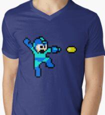 Blue Bomber Men's V-Neck T-Shirt