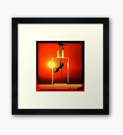 Conquering The Bottle Framed Print