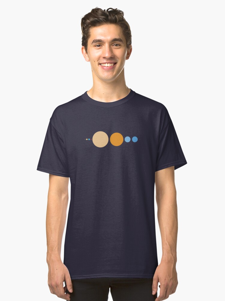 Planets To Scale Classic T-Shirt Front