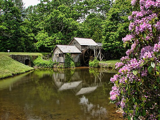 Iconic Mabry's Mill by Carolyn  Fletcher