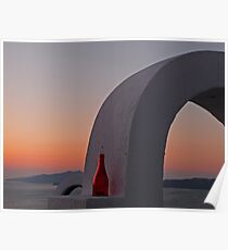 Cyclades Sunset Poster