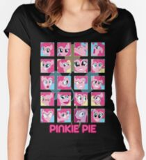 The Many Faces of Pinkie Pie Women's Fitted Scoop T-Shirt