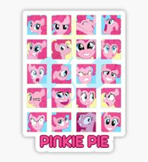 The Many Faces of Pinkie Pie Sticker