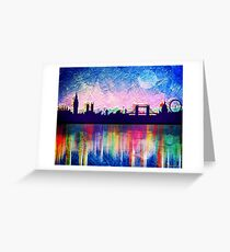 London in blue  Greeting Card