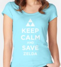 Keep Calm and Save Zelda Women's Fitted Scoop T-Shirt