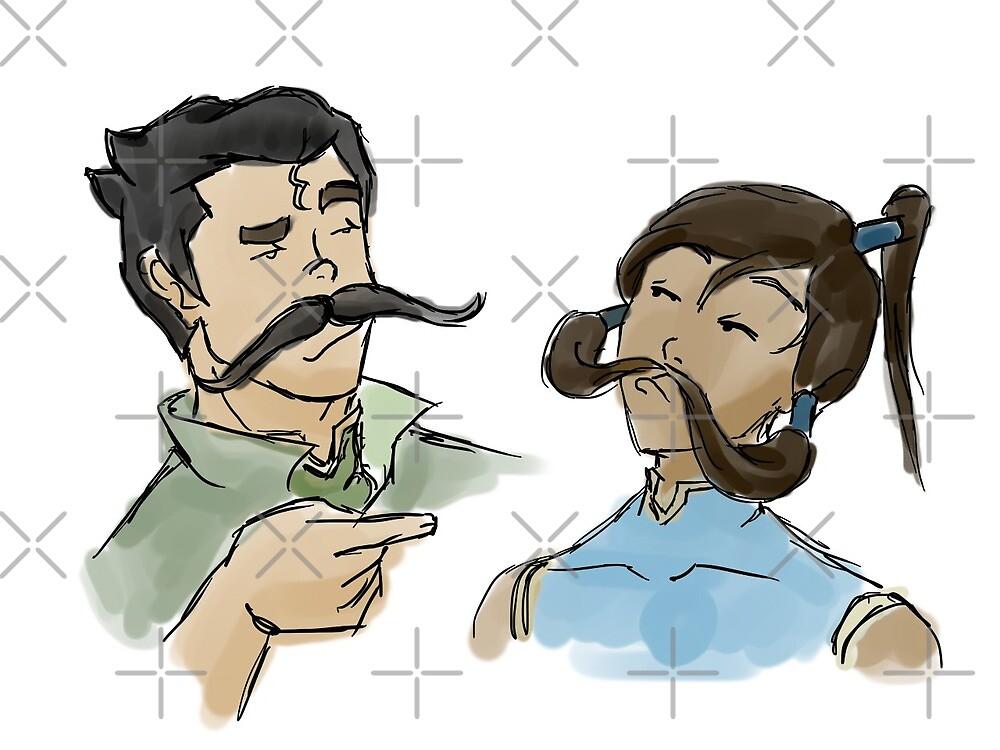 Stache Bros by elventhespian
