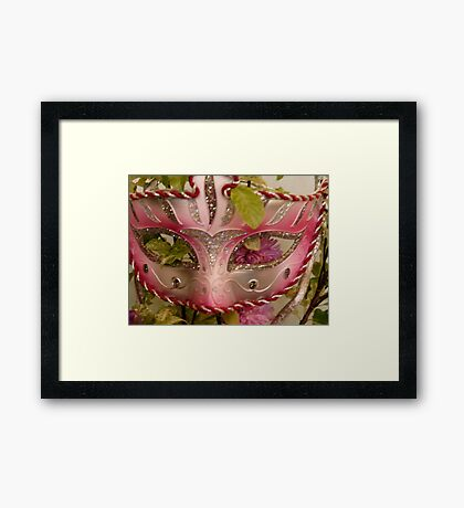 Masque Framed Print