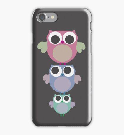 three owls balancing act iPhone Case/Skin