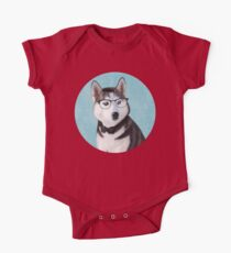 Mr Siberian Husky One Piece - Short Sleeve