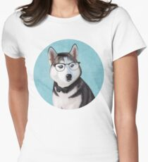 Mr Siberian Husky Womens Fitted T-Shirt