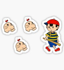 Earthbound - Ness and Mr Saturns Sticker