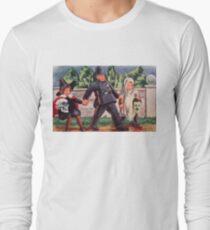 Young Gravediggers  (Vintage Halloween Card) Long Sleeve T-Shirt