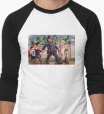 Young Gravediggers  (Vintage Halloween Card) Men's Baseball ¾ T-Shirt
