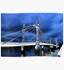 Albert Bridge, London Poster