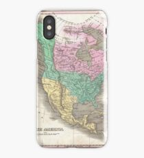 The vintage map of North America iPhone Case/Skin