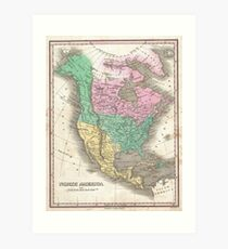 The vintage map of North America Art Print