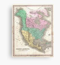 The vintage map of North America Metal Print