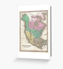 The vintage map of North America Greeting Card