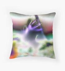 Alien Trumpet Player Throw Pillow