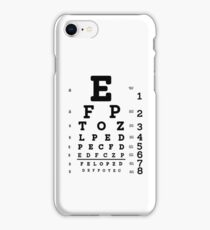 Snellen Eye Chart iPhone Case/Skin