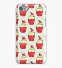 Colorful cup-cakes pattern set iPhone Case/Skin