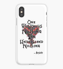 Kingdom Hearts: Ansem quote iPhone Case/Skin