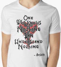 Kingdom Hearts: Ansem quote Men's V-Neck T-Shirt