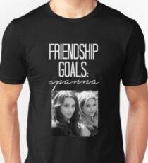 Freundschaftsziele; Spanna - Weiß Slim Fit T-Shirt