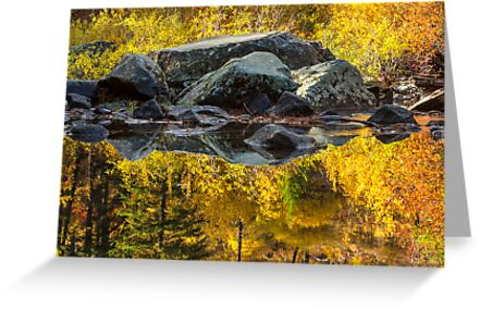 Autumn Reflections on the Wenatchee River, Washington by Jim Stiles