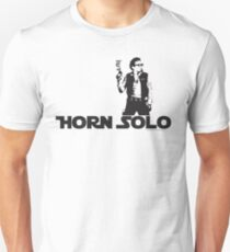 Horn Solo T-Shirt :: Asymetrical Style Unisex T-Shirt