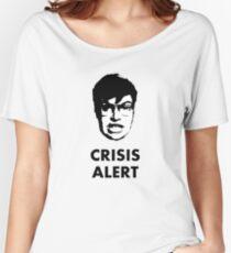 Garret Crisis Alert  Women's Relaxed Fit T-Shirt