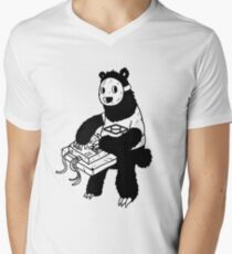 AAHIPHOP MPC Bear Men's V-Neck T-Shirt