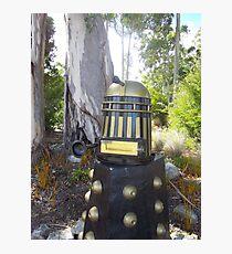 Dalek  letterbox Photographic Print