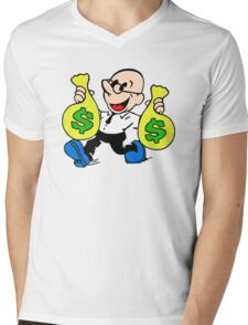 Community Dean with Money Mens V-Neck T-Shirt