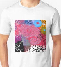 Bali III Abstract Fine Art Collage T-Shirt