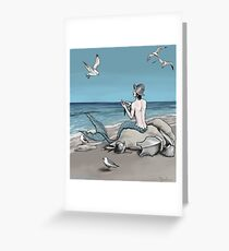 Merman with Armour Greeting Card