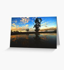 """ Delegate River Sun Rise "" Greeting Card"