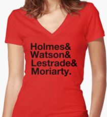 Holmes&Watson&Lestrade&Moriarty Women's Fitted V-Neck T-Shirt
