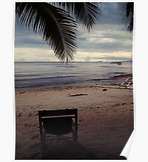 All you need is a chair on a beach. Poster