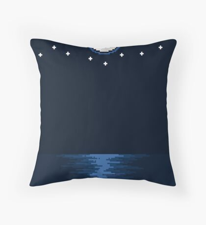 By the Moon - On Paper Throw Pillow