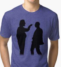 Bottom silhouette - Richie and Eddie Tri-blend T-Shirt