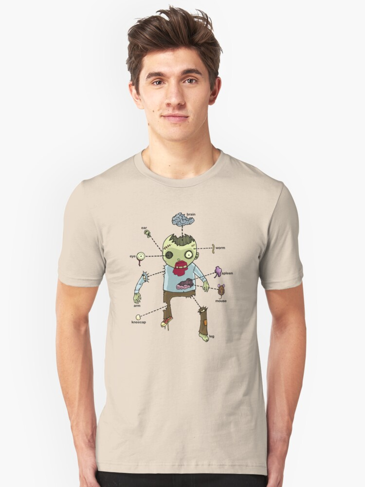 Exploded Zombie Unisex T-Shirt Front