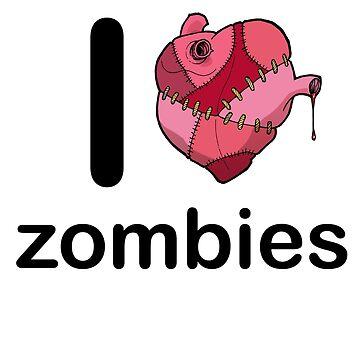 I <3 zombies by curua