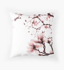Magnolia - monochrome Throw Pillow
