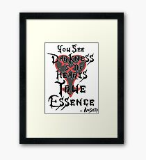Kingdom Hearts: Ansem Quote  Framed Print