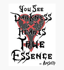 Kingdom Hearts: Ansem Quote  Photographic Print