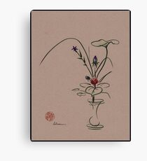Autumn Chill - Sumi e  Ikebana Zen drawing Canvas Print