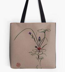 Autumn Chill - Sumi e  Ikebana Zen drawing Tote Bag