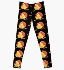 (NEW) Turkey bird running Leggings