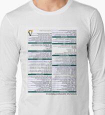 Linux Cheat Sheet Shirt Long Sleeve T-Shirt
